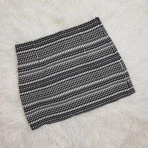 Zara Woman Geometric Black & White Skirt SZ Large